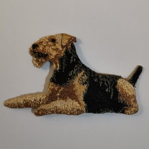 Airedale Terrier Embroidered Motif.